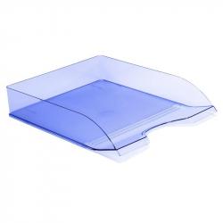 Лоток для бумаг горизонтальный Attache Космос тонированный синий