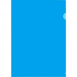 Папка-уголок жесткий пластик синяя 180 мкм (10 штук в упаковке)