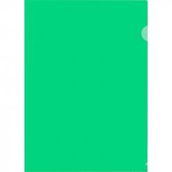 Папка-уголок жесткий пластик зеленая 180 мкм (10 штук в упаковке)