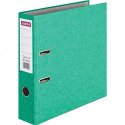 Папка-регистратор с арочным механизмом Attache Colored (75мм, зеленая, 50шт/уп)