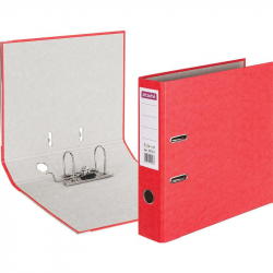 Папка-регистратор с арочным механизмом Attache Colored (75мм, красная, 50шт/уп)