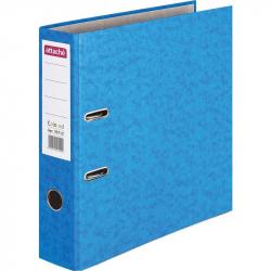 Папка-регистратор с арочным механизмом Attache Colored (75мм, светло- синяя, 50шт/уп)