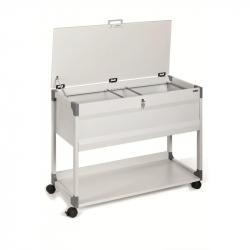Тележка для подвесных папок Durable Multi top металлическая на 100 папок (897х736х432 мм)