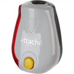 Точилка Attache Selection Twister с контейнером и индикатором заточки серая