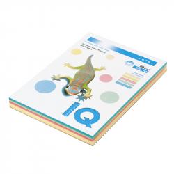 Бумага цветная IQ Color (А4, 80г/м2, 5 цветов по 50 листов, 250 листов)