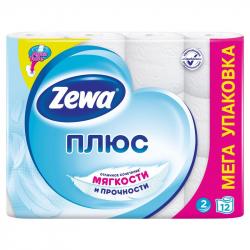 Бумага туалетная ZEWA Plus 144090 белая 2-сл.12рул./уп.