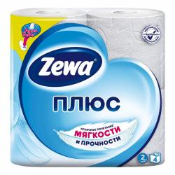 Бумага туалетная Zewa Plus (2-слойная, белая, 4 рулона в упаковке)