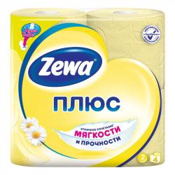 Бумага туалетная Zewa (2-слойная, желтая, 4 рулона в упаковке)