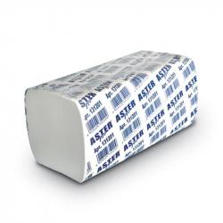 Полотенца бумажные для держателей Aster Pro 131201 (белые с тиснением, 2-слойные, 20-200 листов в упаковке)