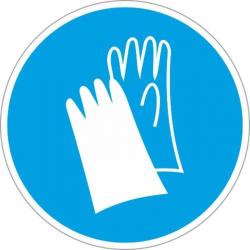 M06 Работать в защитных перчатках (плёнка ПВХ,200х200)