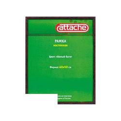 Рамка для сертификатов Attache 40-50см (пластик, акриловое стекло, темная)