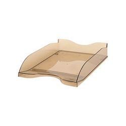 Лоток для бумаг Стамм ЛТ-607 тонированный коричневый (2 штуки в упаковке),