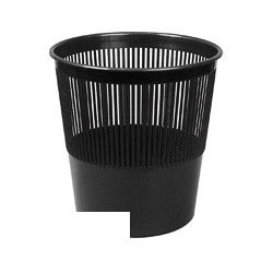 Корзина для бумаг 10л Uniplast КСУ-01 черная решетчатая