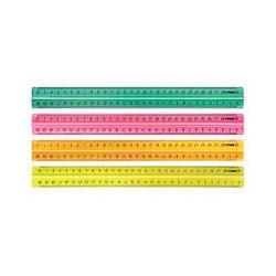 Линейка флюоресцентная Stamm (30см, цвет в ассортименте)