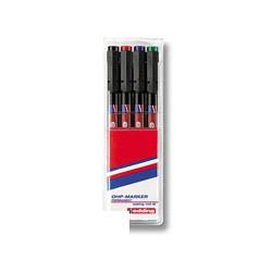 Набор маркеров для пленок Edding E-142 M/4 (1,0  мм.)