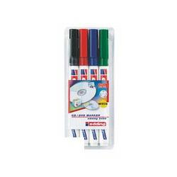 Набор маркеров для CD Edding E-8400 (4 цвета)