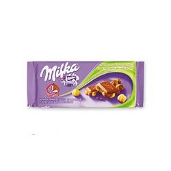 Шоколад плиточный Milka, молочный с цельным фундуком (100г)