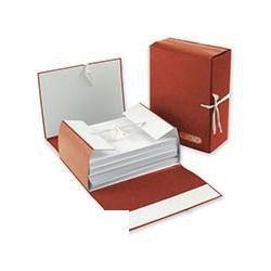 Папка архивная A4 Attache (12см, c 4-мя завязками, крафт/бумвинил)