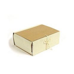 Папка архивная A4 Attache (12см, c 4-мя завязками, крафт/коленкор)