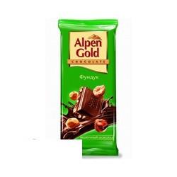 Шоколад Alpen Gold молочный с фундуком (90г)
