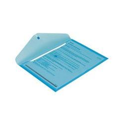 Папка конверт с кнопкой КНК 180 прозрачно-синяя