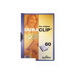 Папка с&nbsp-клипом Durable пластиковая, на&nbsp-60&nbsp-листов синяя, Германия
