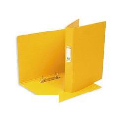 Папка на 2-х кольцах Bantex (А4, картон/пвх, желтая),