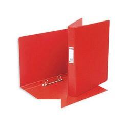 Папка на 2-х кольцах Bantex (А4, картон/пвх, красная),
