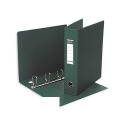 Папка на 4-х кольцах Bantex 1244-04 (А4, картон/пвх, ширина 70 мм, диаметр кольца 50 мм, зеленая),