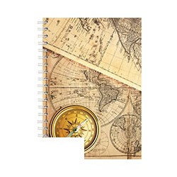 Бизнес-тетрадь Attache (A5, клетка, спираль, 120 листов)