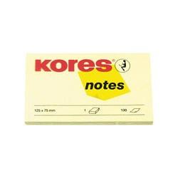 Бумага для заметок Kores (желтая, 125 -75мм, 100 листов)