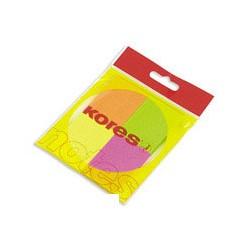 Бумага для заметок Kores (неоновая, 40 -50мм, 4 блока по 50 листов)