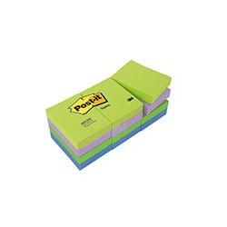 Бумага для заметок 3M Post-it 653-МТ (холодная неоновая радуга, 38 -51мм, 12 блоков по 100 листов)