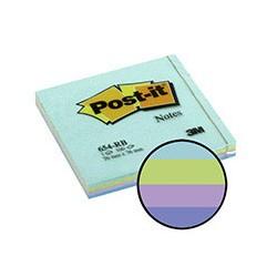 Бумага для заметок 3M Post-it 654-RB (акварельная радуга, 76 -76мм, 100 листов)