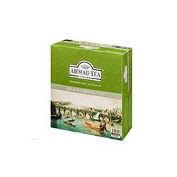 Чай зеленый Ahmad Tea Green Jasmine (100 пакетиков в упаковке)