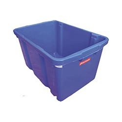 Ящик 593x393x322 мм пластиковый синий