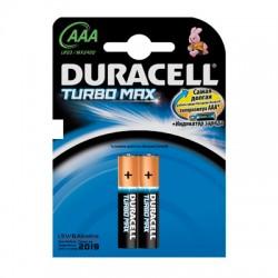 Батарейки Duracell Turbo AAA/286/LR03, 1.5В, алкалиновые, 2 шт. в блистере