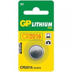 Элементы питания батарейка GP CR2016, 3V, литий, бл/1