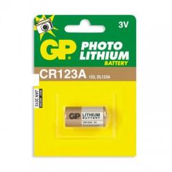 Батарейка GP CR17345/CR123A, 3В, литиевая, 1 шт. в блистере