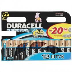 Элементы питания батарейка DURACELL Turbo Max AA/LR6 алкалин. бл/12