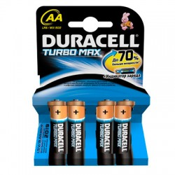 Батарейки Duracell Turbo AA/316/LR6, 1.5В, алкалиновые, 4 шт. в блистере
