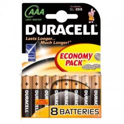 Элементы питания батарейка DURACELL AAA/LR03 алкалин. бл/8