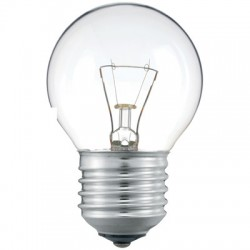 Лампа накаливания Philips, шарик, прозрачная, 60Вт, цоколь E27