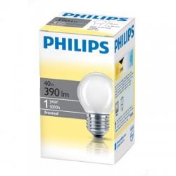 Лампа накаливания Philips, шарик, матовая, 40Вт, цоколь E27