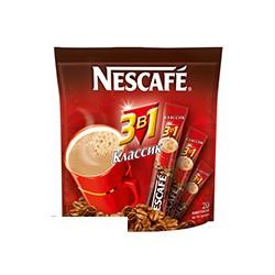 Кофе растворимый Nescafe 3 в 1, Классик, 20 пакетиков в упаковке , сублимированный