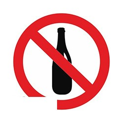 Вход с напитками запрещен (плёнка ПВХ, D150)