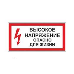 A22 Высокое напряжение.Опасно для жизни (пластик ПВХ, 300х150)