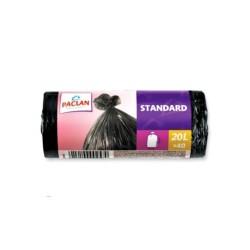 Пакеты для мусора Paclan STANDART (20л 40шт. 7,3мкм НД)
