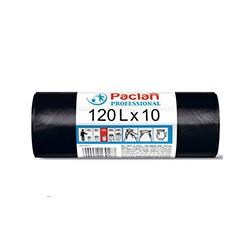 Пакеты для мусора Paclan Professional 120л 10шт 14мкм НД черный