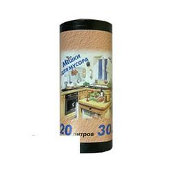 Пакеты для мусора НД 20л 42,5х49,5 10мкр 30шт./рул. Россия